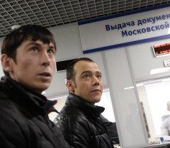 Выдача первых патентов в Едином миграционном центре Московской области