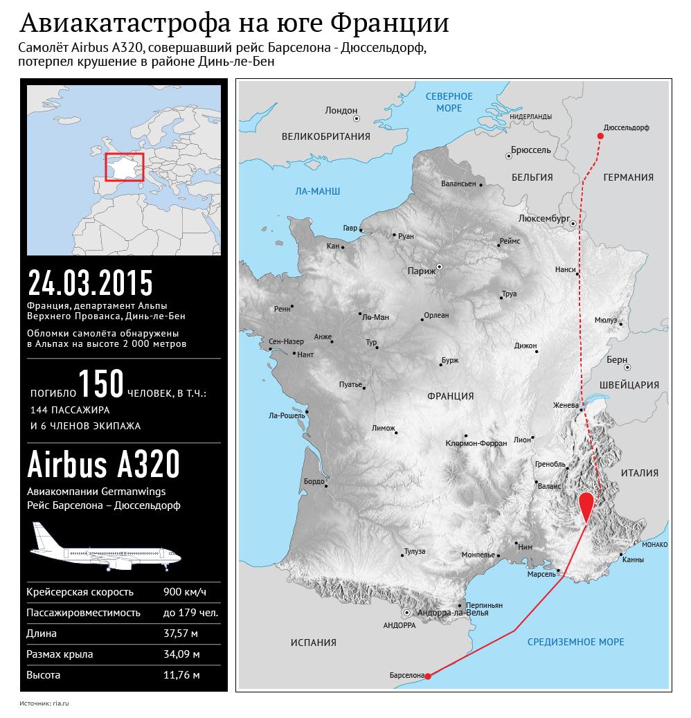 Авиакатастрофа во французских Альпах