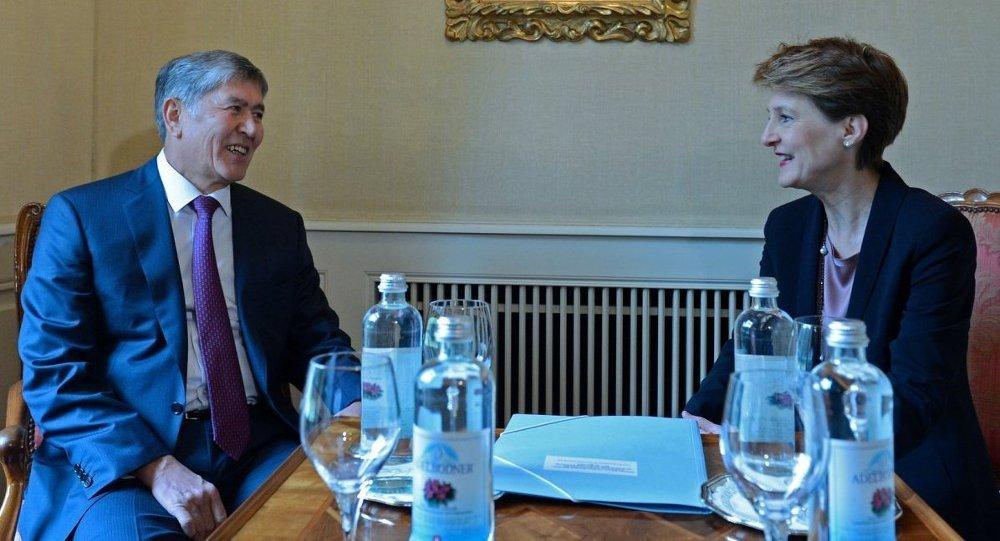 Президент Алмазбек Атамбаев встретился с Президентом Швейцарской Конфедерации Симонеттой Соммаругой