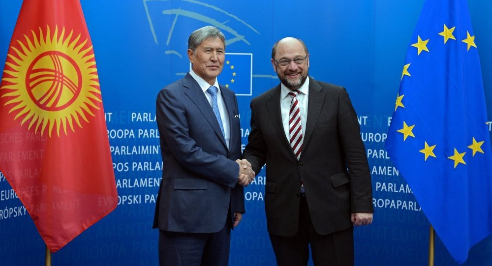 Президент Алмазбек Атамбаев встретился с Председателем Европейского парламента Мартином Шульцем