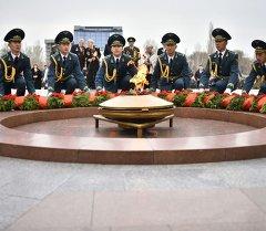 Улуу Жеңиштин 70 жылдыгына арналып, КМШ аймагын камтыган эл аралык иш-чараны өткөрүү кезеги Кыргызстанга келди.