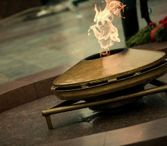 Вечный огонь в городе Бишкек. Архивное фото