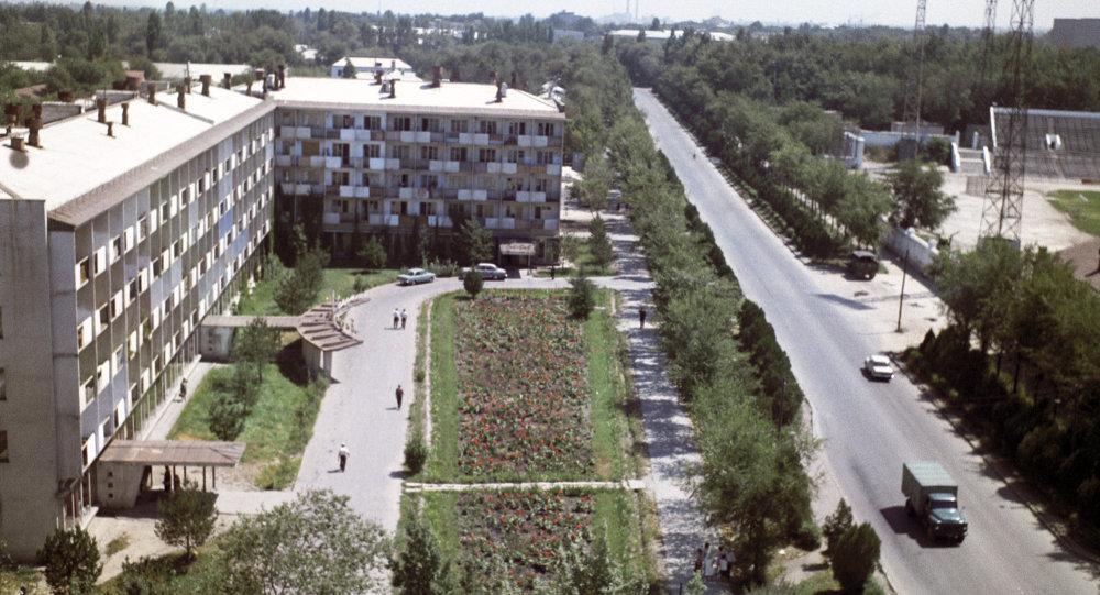 Вид на новостройки города Фрунзе