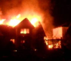 Пожар в доме Максима Бакиева. Архивные кадры