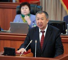 Министр чрезвычайных ситуаций Кыргызской Республики Кубатбек Боронов. Архивное фото