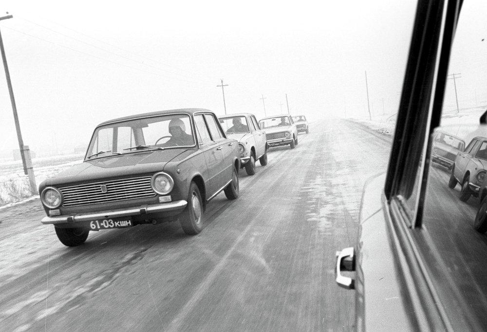 Испытания легковых автомашин ВАЗ-2101.