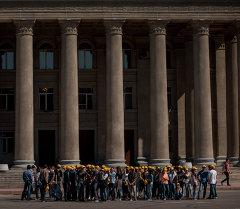 Репетиция торжественного марша в честь 70-летия Победы