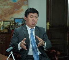 Министр экономики Кыргызской Республики Темир Сариев
