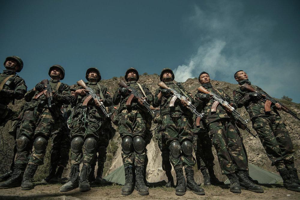 Кытайдын аскерлери.