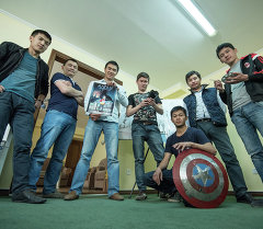 Создатели первого комикса в Кыргызстане за работой