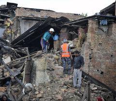 Последствия землетрясений в Непале. Архивное фото