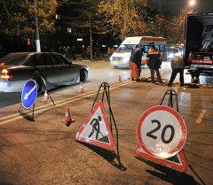 Дорожный знак в Бишкеке. Архивное фото