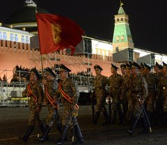 Москва шаарынын Кызыл аянтында даярдыктар
