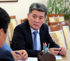 Транспорт жана коммуникация министри Аргынбек Малабаев. Архив