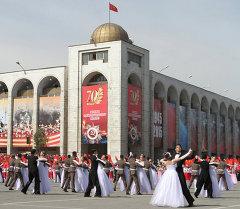 Парад наследников Победы в Киргизии