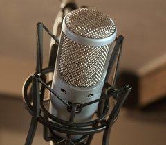 Микрофон для звукозаписи. Архивное фото