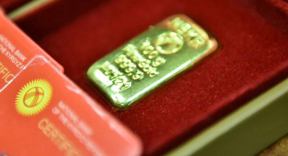 Золотые мерные слитки национального банка. Архивное фото
