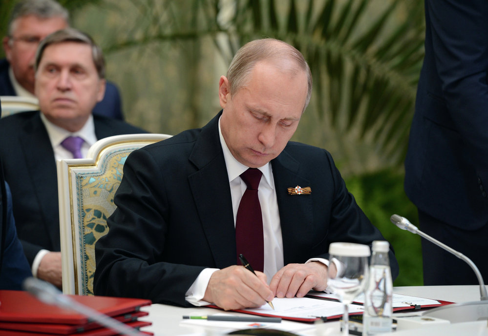 Россиянын президенти  Владимир Путин ЕАЭБдин саммитинде келечекте Кытай менен тыгыз кызматташууну сунуштады.