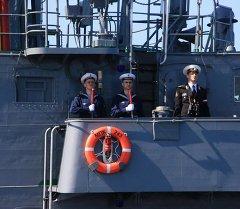 Экипаж малого противолодочного корабля. Архивное фото