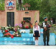 Церемония открытия монумента в селе Шекафтар