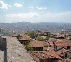 Вид на Анкару с одной из башен крепости Хисар. Архивное фото