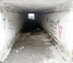 Надписи на одном из подземных переходов в Бишкеке
