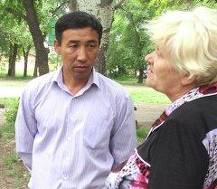 Водитель автобуса Канатбек Анарбаев с пострадавшей