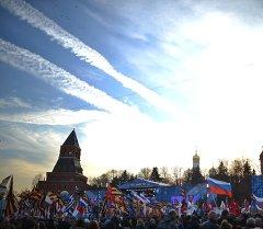 Крым менен Россиянын биригишине багышталган концерт. Архив
