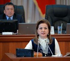 Вице-премьер Дамира Ниязалиева. Архив