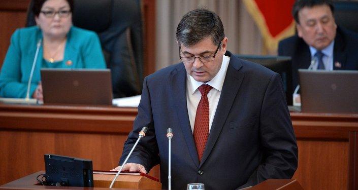 Министр экономики Кыргызской Республики Панкратов Олег Михайлович. Архивное фото