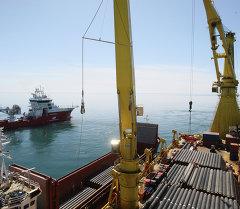 Россиянын Газпром корпорациясы Түрк агымы газ түтүгүн курулушу. Архивное фото