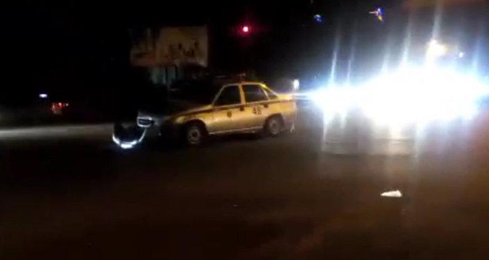Автомашина службы охраны МВД попала в ДТП. Кадры очевидца