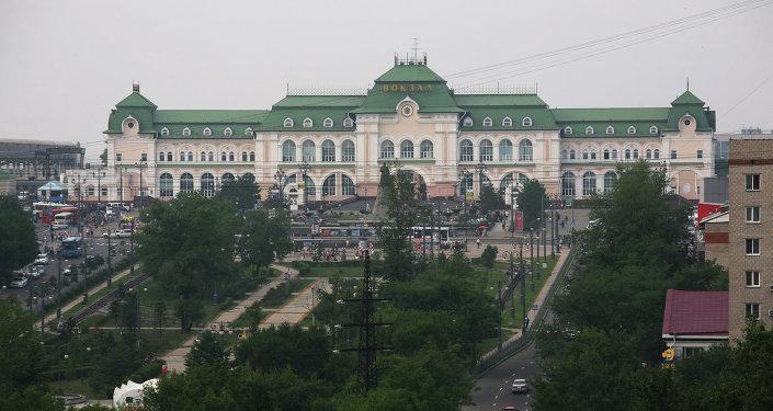 Хабаровск шаарынын вокзалы. Архив