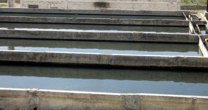 Каракол шаарындагы саркынды сууларды тазалоо жайы