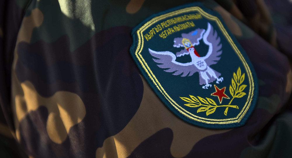 Военный шеврон пограничника Кыргызской Республики. Архивное фото