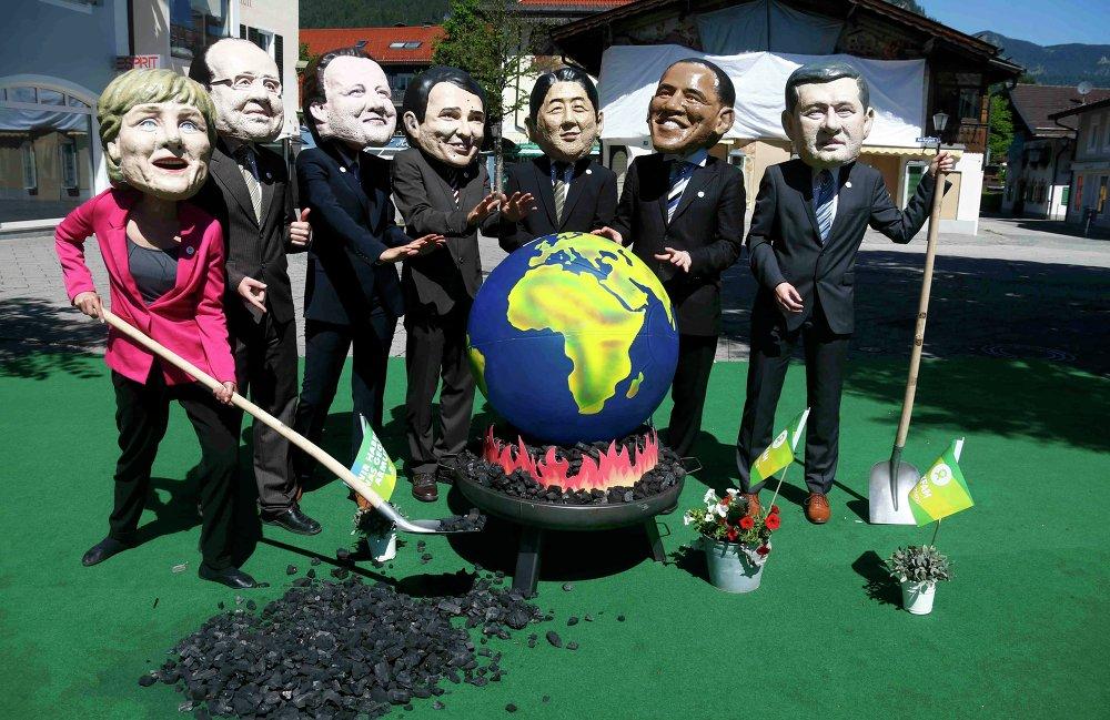 Мюнхен встречает саммит G7.
