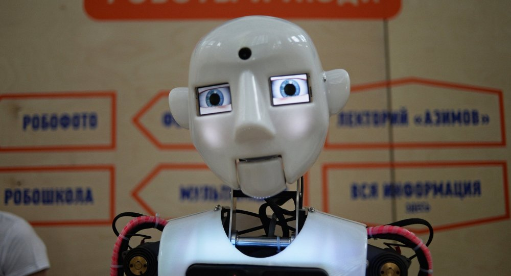 Робот Теспиан на выставке Робостанция на ВДНХ в Москве. Архивное фото