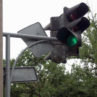 Иштен чыккан светофор