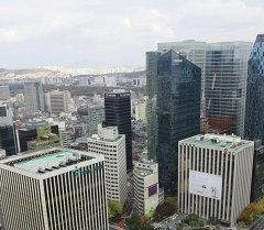Сеул шаарындагы көп кабаттуу үйлөр. Архив