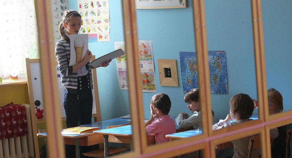 Занятия в детском саду. Архивное фото