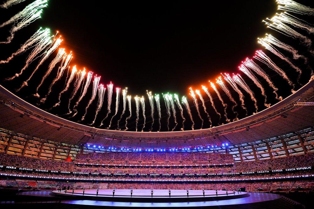 Церемония открытия I Европейских игр.