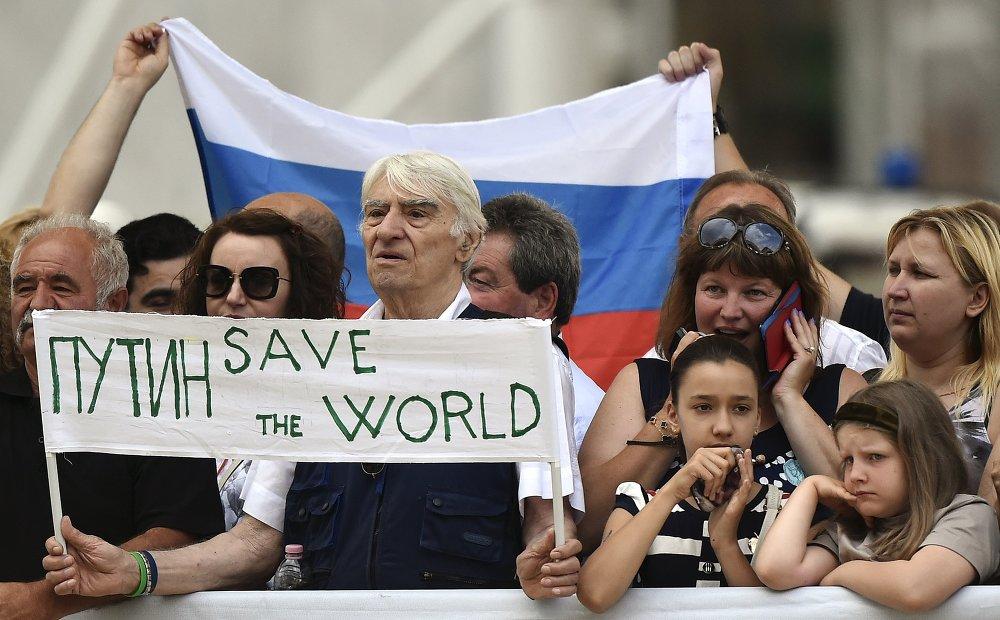 Путин и Ренци открыли День России на ЭКСПО-2015.