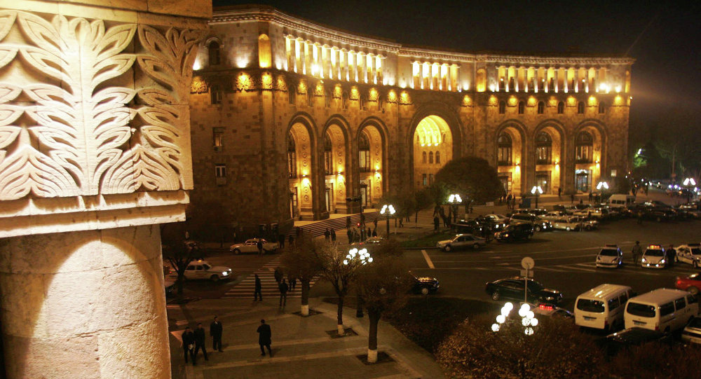 Комплекс зданий правительства Армении на главной площади Еревана. Архивное фото