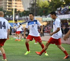 Игроки сборного Кыргызстана по футболу. Архивное фото