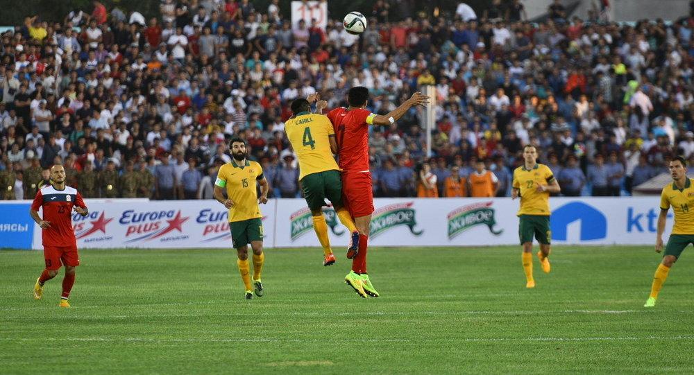 Матч между Кыргызстаном и Австралией в рамках отборочного раунда чемпионата мира 2018 года. Архивное фото