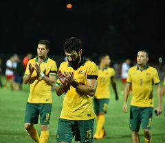 Футболисты сборной Австралии. Архивное фото