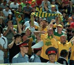 Фанаты Австралии на матче Кыргызстан–Австралия. Архивное фото
