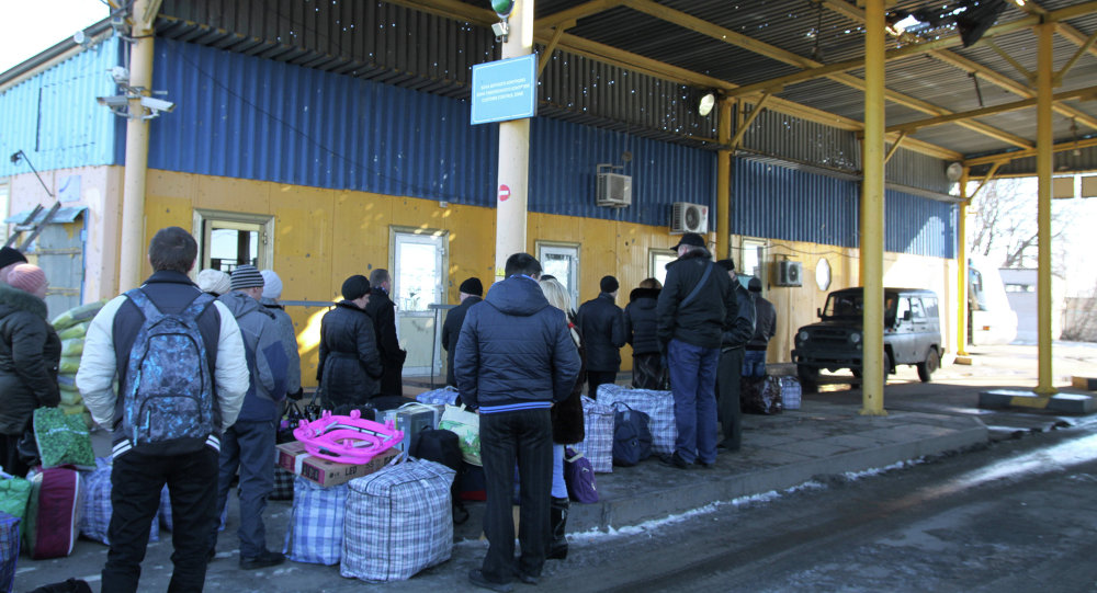 Беженцы Украины на границе. Архивное фото