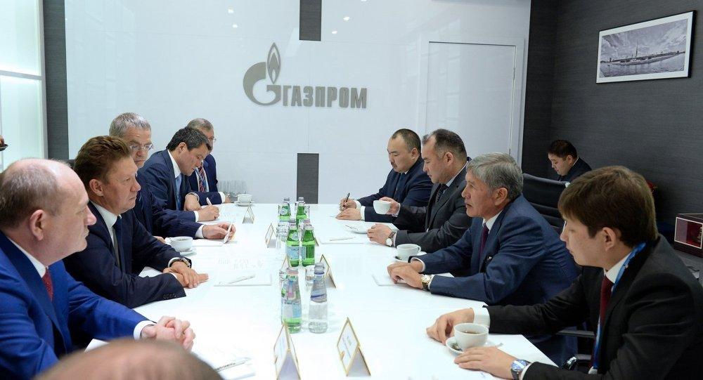 Атамбаев Кыргызстандагы газ тармагынын маселелерин Миллер менен талкуулады