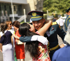 Полку офицеров прибыло. Выпуск курсантов Военного института в Бишкеке